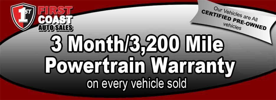 3 Month/ 3200 Mile Powertrain Warranty